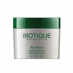 Biotique. Гель для укладки волос  Bio Wave Fresh Body Styling Gel Wet Set For All Hair Types, 50 gm.