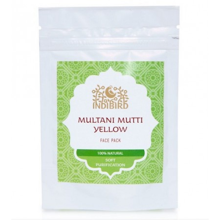 Indibird. Маска для лица Мултани Мутти желтая (Multani Mutti Yellow), 50 гр.