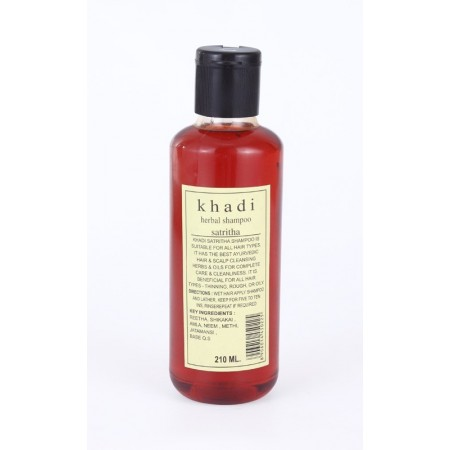 Khadi. Шампунь без парабенов Ритха Herbal Satritha Shampoo 210 мл