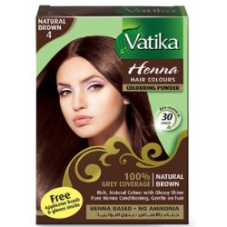 VATIKA. Хна для волос Natural Brown (коричневая) 6 х 10.