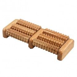 "Массажер для стоп ""Foot massage roller, wood, 6 rollers """
